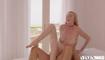 A dude plays with preggo woman's huge boobs before fucks her wet hairy cunt