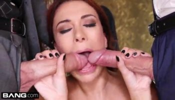 Lucky hunk acquires a wet fellatio for a sexy doll